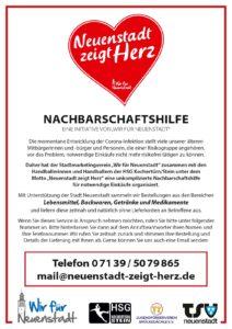 Plakat Nachbarschaftshilfe